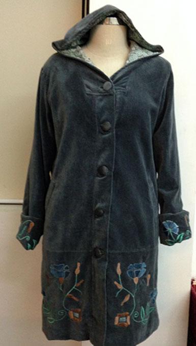 Velvet Embroidered Coat